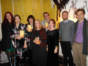 Paula with some of the other authors at the launch of A Flock of Shadows