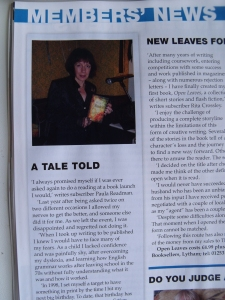 In the Writing Magazine